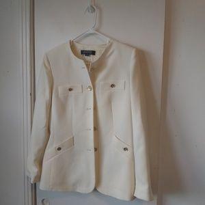 Kasper ladies white blazer suit jacket sz 10
